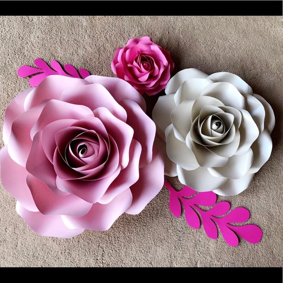 Paper Flowers Nursery Decor